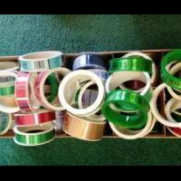 Large box of Hallmark ribbon for sale in Cedar County IA by Garage Sale Showcase Member Iowa Selling Shelly