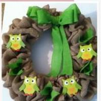 Owl Burlap Wreath for sale in Phenix City AL by Garage Sale Showcase Member M And M Garage Sale 6889