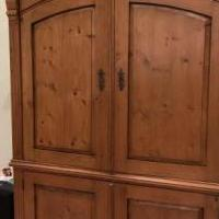 Maurice's Antique Pine Entertainment Center for sale in Palm City FL by Garage Sale Showcase member Pineapple, posted 10/31/2018