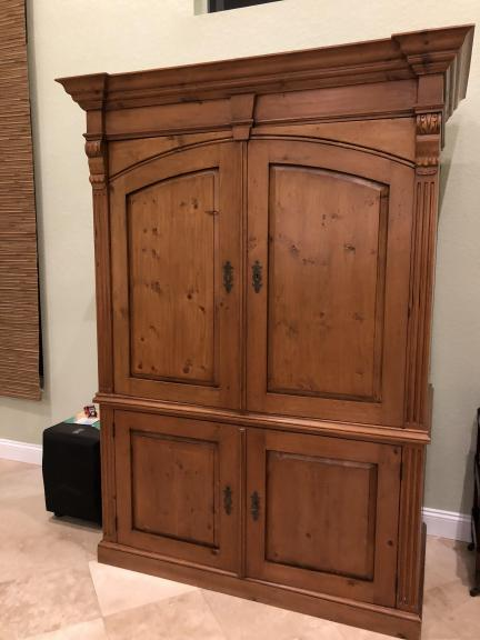 Maurice's Antique Pine Entertainment Center for sale in Palm City FL
