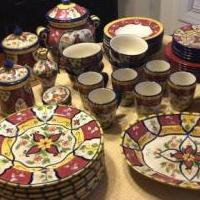Pier I Vallarta Dish Collection - Over 50 Pieces for sale in Raeford NC by Garage Sale Showcase member MovingAway, posted 11/18/2018