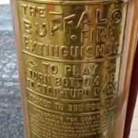 Antique Brass/Cooper Fire Extinguisher Matching Lamps for sale in Randolph NJ by Garage Sale Showcase member Cooper, posted 03/28/2020