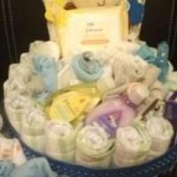 Diaper cake, baby shower gift, mom to be gift for sale in Port Allegany PA by Garage Sale Showcase member tideetee@gmail.com, posted 02/22/2019