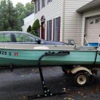 12 ft aluminum row boat and trailer for sale in West Chester PA by Garage Sale Showcase member victorpm, posted 11/04/2018