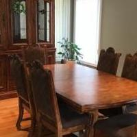 China cabinet and table , chairs for sale in New City NY by Garage Sale Showcase member areck14, posted 02/18/2019