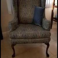 Wing Back Chair for sale in Cape Coral FL by Garage Sale Showcase member akabu2, posted 03/14/2019
