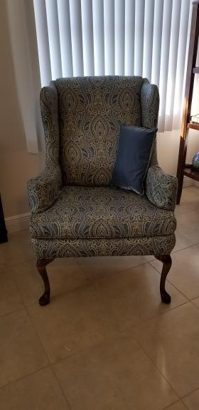 Cape C Fl Wing Back Chair