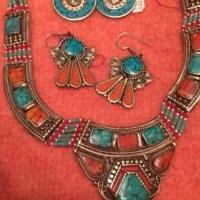 Silver, turquoise, coral and lapis necklaces . for sale in Brownstown PA by Garage Sale Showcase member Crfrantz, posted 02/06/2019