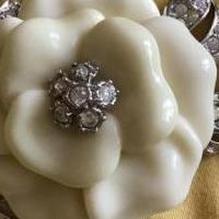 Gardenia and pave pin for sale in South Burlington VT by Garage Sale Showcase member Aprilgirl, posted 03/27/2019