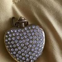 Heart pendant with watch for sale in South Burlington VT by Garage Sale Showcase member Aprilgirl, posted 03/27/2019