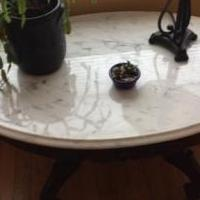 Mahogany and marble tables set for sale in Gloversville NY by Garage Sale Showcase member Nise, posted 02/21/2019