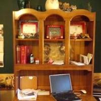 Two Piece desk/bookcase/work station for sale in Pinehurst NC by Garage Sale Showcase member WilliamB, posted 02/01/2019