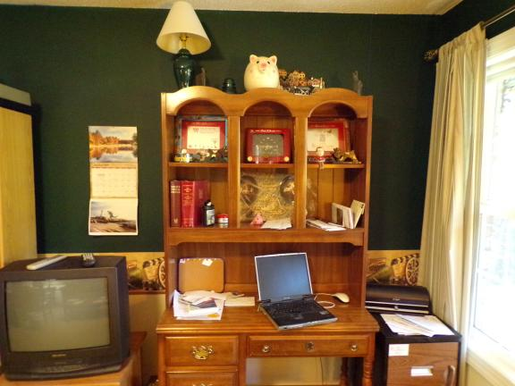 Two Piece desk/bookcase/work station for sale in Pinehurst NC