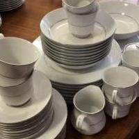 Fine china, silver trimmed for sale in Fishers IN by Garage Sale Showcase member evcondra, posted 12/21/2018