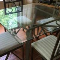 Glass & Metal Dining Room Table for sale in Nelson County VA by Garage Sale Showcase member 1hbear, posted 02/10/2019