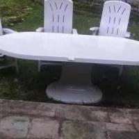 Patio set for sale in Boonton NJ by Garage Sale Showcase member Dentaldonna, posted 10/12/2018