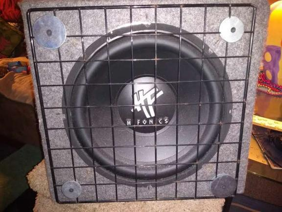 "12"" SubWoofer in Enclosure w/AMP attached for sale in Niagara Falls NY"