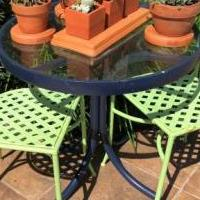Garden Metal Chairs & Table for sale in Bonita Springs FL by Garage Sale Showcase member Top Shelf, posted 10/17/2018