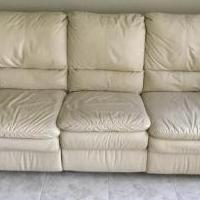 RECLINING LEATHER COUCH for sale in Fairfield CA by Garage Sale Showcase member pvault, posted 04/03/2019