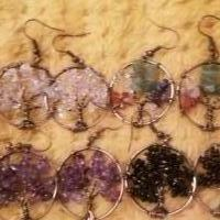 Tree of life nickel colored pierced ear rings for sale in Pinebluff, N.c. NC by Garage Sale Showcase member Prissy, posted 12/31/2018