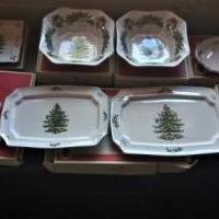 SPODE CHRISTMAS DINNERWARE SET FOR 12 for sale in Carthage NC by Garage Sale Showcase member MickEllenville, posted 11/16/2018