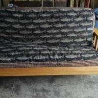 Sofa/futon for sale in Coon Rapids MN by Garage Sale Showcase member Scott Byrkit, posted 03/18/2019