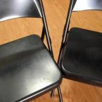2 steel chairs - 12$ for sale in Saratoga Springs NY by Garage Sale Showcase member mani.createvalue, posted 02/18/2019