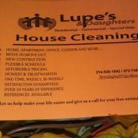 LUPE'S&DAUGHTERS HOUSE CLEANING for sale in Waxahachie TX by Garage Sale Showcase member LUPE'S&DAUGHTER'S, posted 10/02/2018