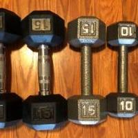 Dumbell Weights for sale in Norwalk OH by Garage Sale Showcase member Brad Harp, posted 12/18/2019