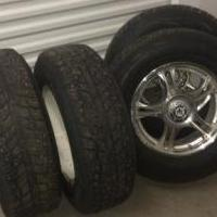 Snow tires and rims for sale in Grass Valley CA by Garage Sale Showcase member Mntnman, posted 11/26/2018