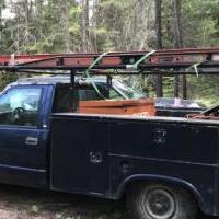 1998 chevy pickup with service box for sale in Trout Creek MT by Garage Sale Showcase member K&D 7713, posted 02/27/2019