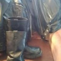 Black leather jacket for sale in Mc Kean PA by Garage Sale Showcase member YVONNE1956, posted 02/25/2019