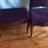 Antique chair and foot stool for sale in Franklin IN by Garage Sale Showcase member cmpritchard mae147147, posted 06/26/2019