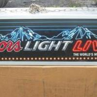 Coor's Light Hanging Sign for sale in Drexel Hill PA by Garage Sale Showcase member djlrdad, posted 08/15/2019