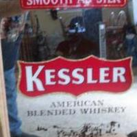 Kessler american whisky wall sign for sale in Drexel Hill PA by Garage Sale Showcase member djlrdad, posted 10/23/2020