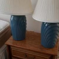 Two blue end table lamps for sale in Nottingham MD by Garage Sale Showcase member zalt2000, posted 06/24/2019