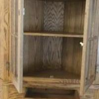 Solid Oak Corner Cabinet for sale in Blairsville GA by Garage Sale Showcase member Robyn1965, posted 07/22/2019