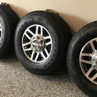 Ford 4x4 F 250 factory wheels and tires. Only 900 miles. for sale in Murfreesboro TN by Garage Sale Showcase member Russell, posted 05/09/2019