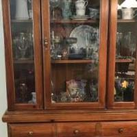Wood Dinning Hutch for sale in Wappingers Falls NY by Garage Sale Showcase member Margie3, posted 06/12/2019