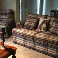 Couch,love seat,chair three tables and two lamps for sale in Caddo Mills TX by Garage Sale Showcase member Toad72, posted 07/04/2019