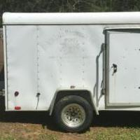 6 x 10 enclosed cargo trailer for sale in Blue Ridge GA by Garage Sale Showcase member Snicklefritz, posted 05/13/2019