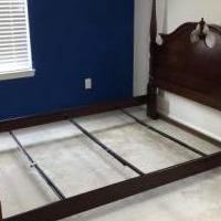 Bassett Cherry Queen Bed for sale in Buford GA by Garage Sale Showcase member Rungirl, posted 06/25/2019