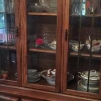 China Hutch with glass doors for sale in Clayton IN by Garage Sale Showcase member Heinzb, posted 07/22/2019