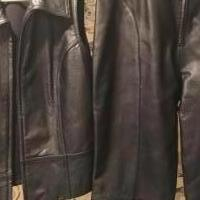 Leather pants and vest pants size 30/30 vest medium for sale in Muskegon MI by Garage Sale Showcase member gloria4442, posted 10/13/2019