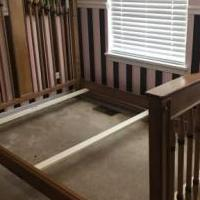 Full size bed frame, dresser and boxspring for sale in Huntley IL by Garage Sale Showcase member Unagaughan, posted 07/04/2019