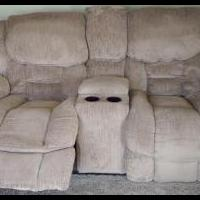 Lazy Boy Wall Hugger two seat love couch, all power system.  USED NOT ABUSED for sale in Fair Haven VT by Garage Sale Showcase member Digger47, posted 04/16/2019