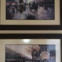 Two Christa Kieffer Paris Pictures for sale in Eagan MN by Garage Sale Showcase member Eaganjan, posted 04/27/2019