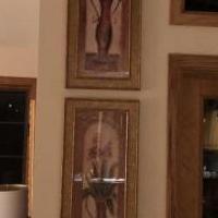 Two Gold Framed Vases for sale in Eagan MN by Garage Sale Showcase member Eaganjan, posted 04/27/2019