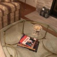 Glass and Brass End Table and Coffee Table for sale in Eagan MN by Garage Sale Showcase member Eaganjan, posted 04/27/2019
