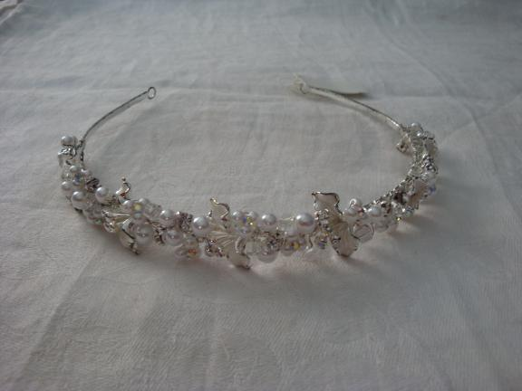 CRYSTAL and PERAL Bridal Headband for sale in Trenton NJ